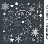 hand drawn stars. vector. | Shutterstock .eps vector #660802447