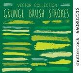 green shade ink paint brush...   Shutterstock .eps vector #660802513