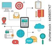 the illustration of online... | Shutterstock .eps vector #660805747