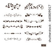 vector image. curls and scrolls ... | Shutterstock .eps vector #660809017