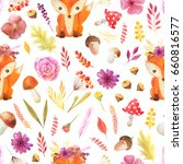 seamless pattern with... | Shutterstock . vector #660816577