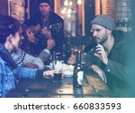 craft beer booze brew alcohol... | Shutterstock . vector #660833593