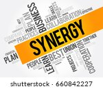 synergy word cloud collage ... | Shutterstock .eps vector #660842227