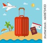 tourism tourist holidays sun... | Shutterstock .eps vector #660873433