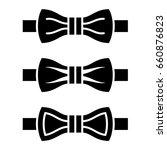 vector bow tie black symbols | Shutterstock .eps vector #660876823