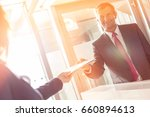 businessman receiving document... | Shutterstock . vector #660894613