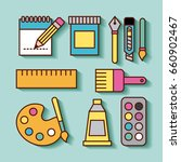 children instruments draw | Shutterstock .eps vector #660902467