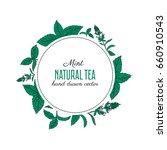 round frame  label  sticker... | Shutterstock .eps vector #660910543