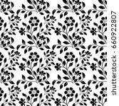 damask seamless floral pattern. ... | Shutterstock .eps vector #660922807