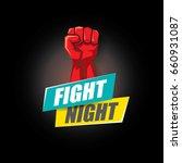 fight night vector modern... | Shutterstock .eps vector #660931087