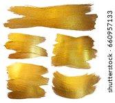 gold watercolor texture paint...   Shutterstock . vector #660957133