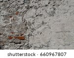 crack cement wall with a few... | Shutterstock . vector #660967807