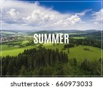 aerial view of the summertime... | Shutterstock . vector #660973033