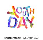 youth day. vector inscription...   Shutterstock .eps vector #660984667
