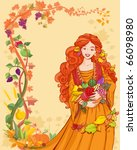 vector illustration  autumn... | Shutterstock .eps vector #66098980