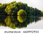 landscape with water and... | Shutterstock . vector #660992953
