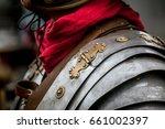 details of ancient roman... | Shutterstock . vector #661002397