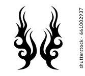 tattoo tribal vector design.... | Shutterstock .eps vector #661002937