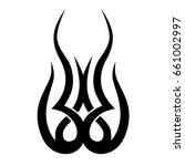 tribal tattoo art designs.... | Shutterstock .eps vector #661002997
