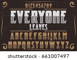 font.alphabet.script.typeface... | Shutterstock .eps vector #661007497