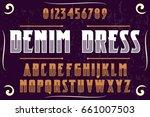 font.alphabet.script.typeface... | Shutterstock .eps vector #661007503