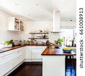 fancy kitchen interior with... | Shutterstock . vector #661008913