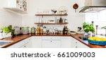 banner of fancy kitchen... | Shutterstock . vector #661009003