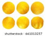gold foil  watercolor texture....   Shutterstock . vector #661013257