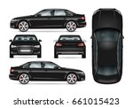 Black Car Vector Template For...