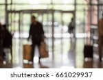 hotel lobby with gates | Shutterstock . vector #661029937