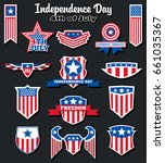 vector independence day badges... | Shutterstock .eps vector #661035367