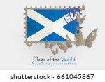vector flag measurements with... | Shutterstock .eps vector #661045867