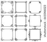 traditional korea pattern ... | Shutterstock . vector #661046023