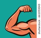 strong arm  muscles  gym.... | Shutterstock .eps vector #661053043