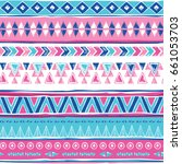 navajo abstract seamless pattern | Shutterstock .eps vector #661053703