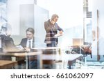 businessman executive talking... | Shutterstock . vector #661062097