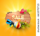 summer sale design template... | Shutterstock .eps vector #661070713