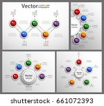 set of colorful infographic can ... | Shutterstock .eps vector #661072393
