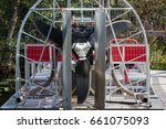 Small photo of Airboat propeller detail in the Everglades Florida, USA