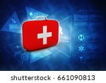 3d rendering first aid kit | Shutterstock . vector #661090813