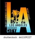 los angeles  california... | Shutterstock .eps vector #661109227