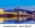 golden horn against galata... | Shutterstock . vector #661118167