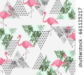 abstract seamless pattern with... | Shutterstock .eps vector #661125217