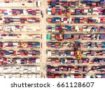 aerial view of large shipping...
