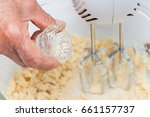 Small photo of Butter Cookies Preparation : Adding vanilla flavouring essence