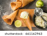 refreshing lime sorbet in a...   Shutterstock . vector #661162963
