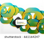 geometric abstract background ... | Shutterstock .eps vector #661164247