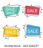 pack of sale stickers in speech ... | Shutterstock .eps vector #661166227
