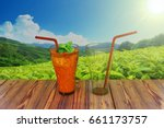 3d rendering  a full cup and...   Shutterstock . vector #661173757
