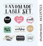 vector cartoon set of labels ... | Shutterstock .eps vector #661197013
